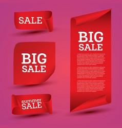 Big sale banner set ribbon vector