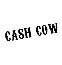Cash cow rubber stamp vector