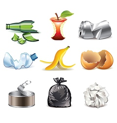 set garbage vector image