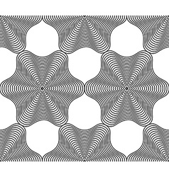 Black and white ornamental pattern seamless art vector
