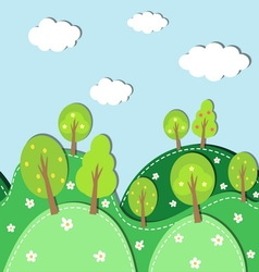 Spring forest background vector