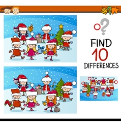 Xmas differences task for kids vector