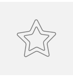 Rating star line icon vector