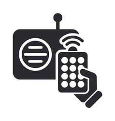 radio remote icon vector image