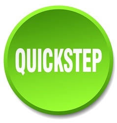 Quickstep green round flat isolated push button vector