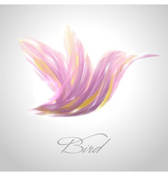 Shiny lavender flying hummingbird vector