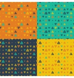 Set of seamless pattern of colored vector
