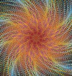 Abstract computer generated digital art design vector