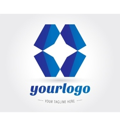Abstract logo template for branding and vector image vector image