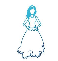 beautiful princess cartoon vector image vector image