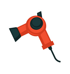 Black and red hair dryer vector