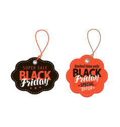black friday concept sale shopping offer cheap vector image vector image