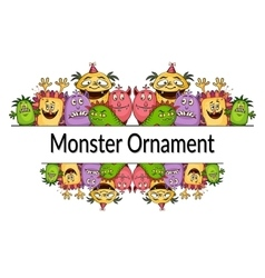 Cartoon Monsters Ornament vector image vector image