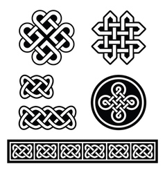 Celtic Irish patterns and braids - vector image