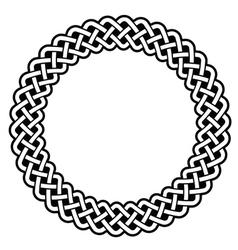 Celtic round frame border pattern - vector image vector image