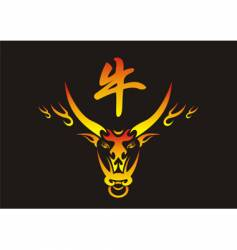 Chinese ox vector image