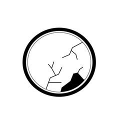 Circular mirror icon image vector