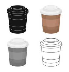 Coffee icon in cartoon style for web vector