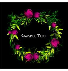 Colorful spring floral frame vector