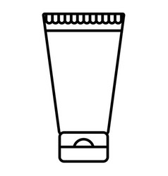 Creme tube icon outline style vector