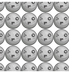 Emoticons pattern kawaii style icon vector