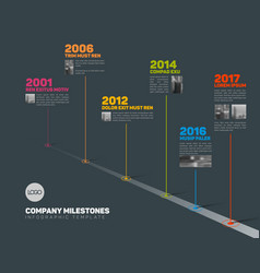 Infographic timeline template with pointers and vector
