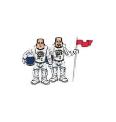 Isolated astronaut cartoon design vector