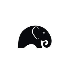 isolated indian elephant icon ivory vector image