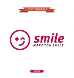 logo winking smiley icons vector image