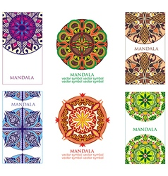 Mandalas collection vector image vector image
