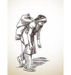 Nepali woman vector image vector image