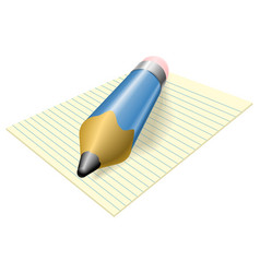 Pencil and paper vector