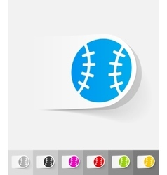 Realistic design element baseball vector