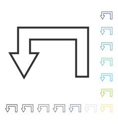 Return arrow icon vector