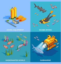 scuba diving design concept vector image