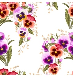 Seamless varicolored pansies vector image vector image