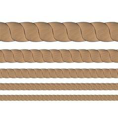 Set of metal cables vector