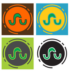 set of stumbleupon color glossy icon realistic vector image vector image