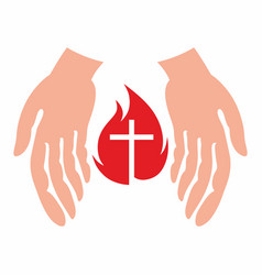 The hands of christ vector