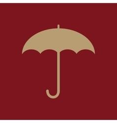 The umbrella icon protection symbol flat vector
