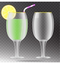 Transparent wineglass vector image