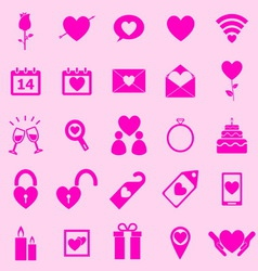 Valentines day pink icons on light background vector image vector image