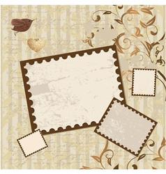 Valentines Scrapbook Elements vector image vector image