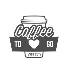 Vintage coffee badge logotype vector