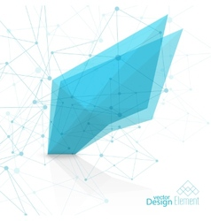 Virtual abstract background with particle vector image
