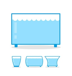 Aquarium empty on white background clear glass jar vector