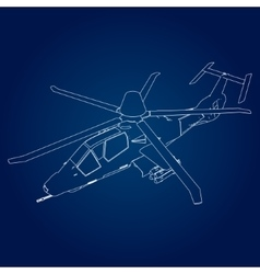 Linear of a military vector image