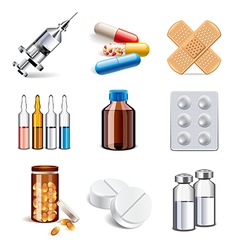 set medicaments vector image