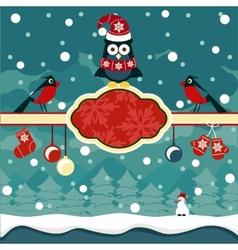 Christmas horizontal banners background vector image