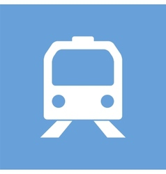 Train white icon vector